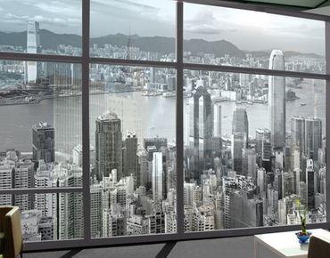 Fensterfolie - XXL Fensterbild Skyline Nostalgia - Fenster Sichtschutz