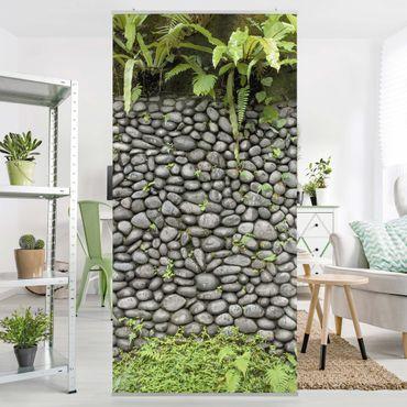 Raumteiler - Steinwand Mit Pflanzen 250x120cm