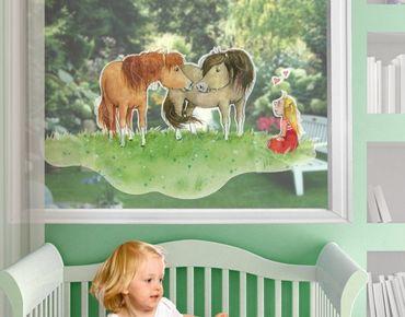 Zauberponygeschichten - Fensterfolie - Fenstersticker Liese und Lotte - Fensterbilder - Arena Verlag