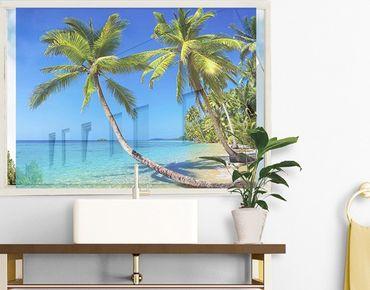 Fensterfolie - Sichtschutz Fenster Beach of Thailand - Fensterbilder
