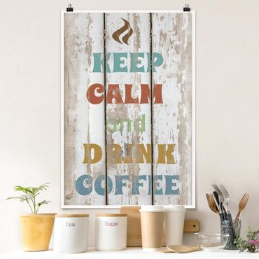 Poster - No.RS184 Drink Coffee - Hochformat 3:2
