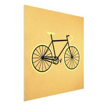 Forex Fine Art Print - Fahrrad in Gelb - Quadrat 1:1