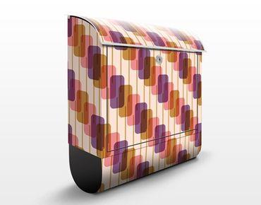 Design Briefkasten Lollipop Musterdesign 39x46x13cm