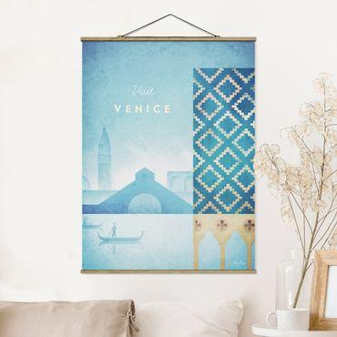 Stoffbild mit Posterleisten - Reiseposter - Venedig - Hochformat 4:3