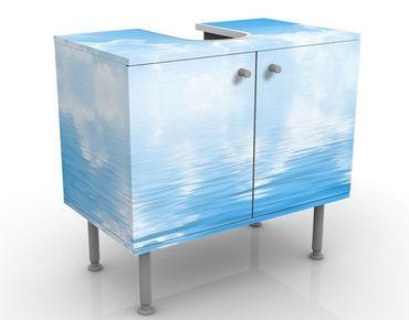 Waschbeckenunterschrank - Above Sea Level - Maritim Badschrank Weiß Blau
