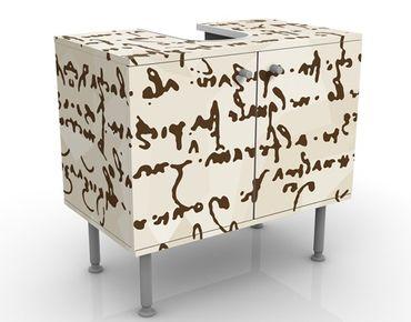 Waschbeckenunterschrank - Da Vinci Manuskript - Badschrank Braun