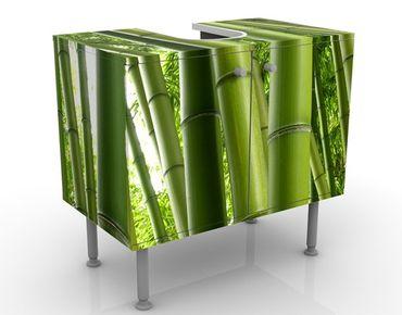Waschbeckenunterschrank - Bamboo Trees No.1 - Badschrank Grün