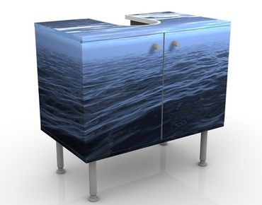 Waschbeckenunterschrank - Dark Water - Badschrank Blau