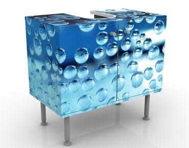 Waschbeckenunterschrank - Dark Bubbles - Badschrank Blau