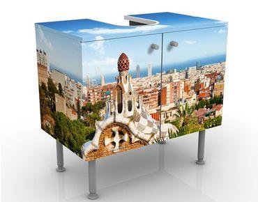 Waschbeckenunterschrank - Barcelona - Badschrank Bunt