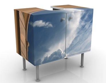 Waschbeckenunterschrank - Das Tor zum Himmel - Badschrank Blau