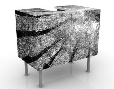 Waschbeckenunterschrank - Bäume des Lebens II - Badschrank Grau