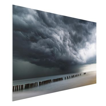 Forex Fine Art Print - Sturmwolken über der Ostsee - Querformat 2:3