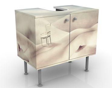 Waschbeckenunterschrank - Aktlandschaft - Badschrank