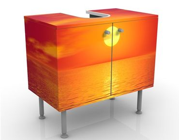 Waschbeckenunterschrank - Beautiful Sunset - Badschrank Orange