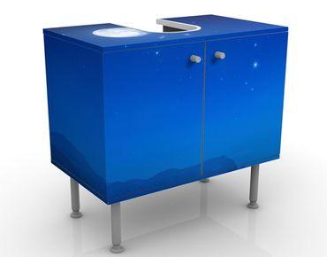 Waschbeckenunterschrank - Ein Wunsch Bei Vollmond - Badschrank Blau