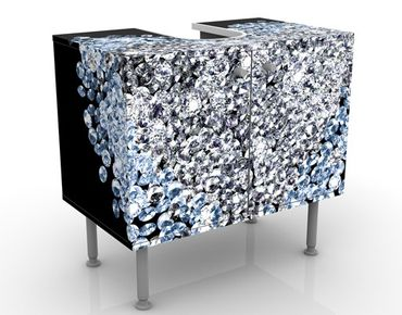 Waschbeckenunterschrank - Diamant Herz - Badschrank