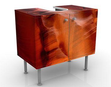 Waschbeckenunterschrank - Antelope Canyon - Badschrank Orange Rot