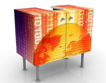 Waschbeckenunterschrank - Digital Planet - Badschrank Orange