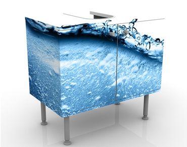 Waschbeckenunterschrank - Beautiful Wave - Badschrank Blau