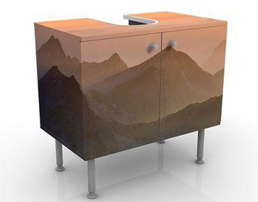 Waschbeckenunterschrank - Blick von der Zugspitze - Badschrank Orange Beige
