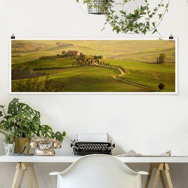 Poster - Chianti Toskana - Panorama Querformat