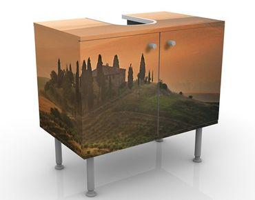 Waschbeckenunterschrank - Dreams of Tuscany - Badschrank Orange Beige