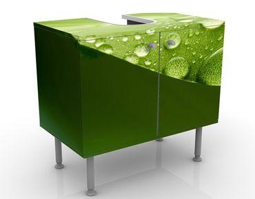 Waschbeckenunterschrank - Drops of Nature - Badschrank Grün