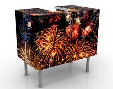 Waschbeckenunterschrank - Fireworks - Badschrank Orange