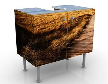 Waschbeckenunterschrank - Dünenweg auf Sylt - Badschrank