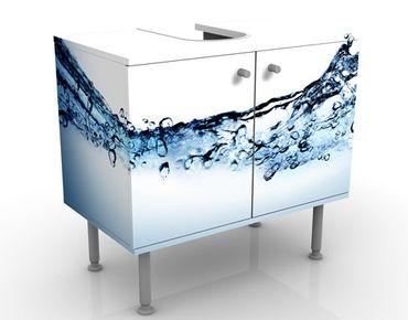 Waschbeckenunterschrank - Fizzy Water - Badschrank Weiß Blau