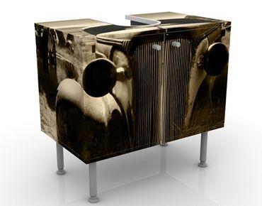 Waschbeckenunterschrank - Geisterstadt - Vintage Badschrank Beige