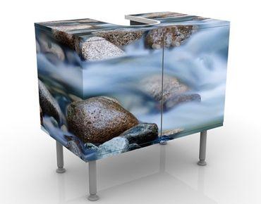 Waschbeckenunterschrank - Fluss in Kanada - Badschrank