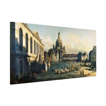 Magnettafel - Bernardo Bellotto - Der Neue Markt in Dresden - Memoboard Panorama Querformat 1:2