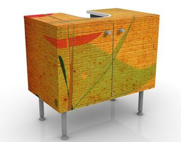Waschbeckenunterschrank - China Plant - Badschrank Orange
