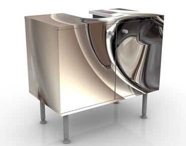 Waschbeckenunterschrank - Glossy - Badschrank Beige
