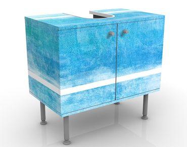 Waschbeckenunterschrank - Colour Harmony Blue - Maritim Badschrank Blau
