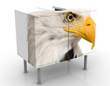 Waschbeckenunterschrank - Eye Of The Eagle - Badschrank Weiß
