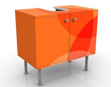 Waschbeckenunterschrank - Havanna Lounge No.2 - Badschrank Orange Rot