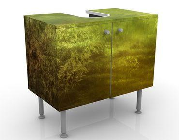 Waschbeckenunterschrank - Waldspaziergang - Badschrank Grün