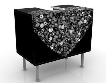Waschbeckenunterschrank - Heart Giveaway - Badschrank Schwarz