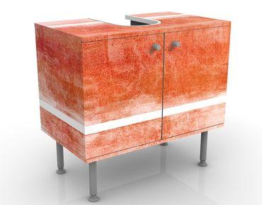 Waschbeckenunterschrank - Colour Harmony Red - Badschrank Rot