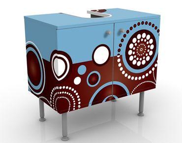 Waschbeckenunterschrank - Come Over - Badschrank Blau