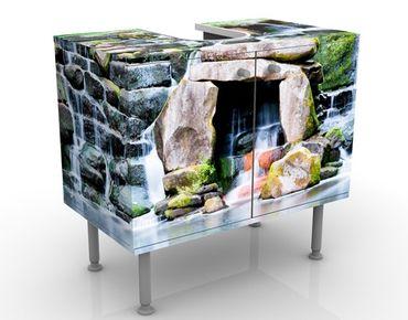Waschbeckenunterschrank - Wasserfall - Badschrank