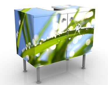 Waschbeckenunterschrank - Kiss of Sun - Badschrank Grün