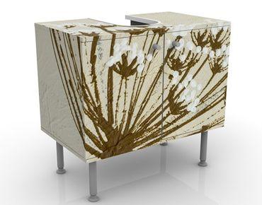 Waschbeckenunterschrank - Wildflower - Blumen Badschrank Beige