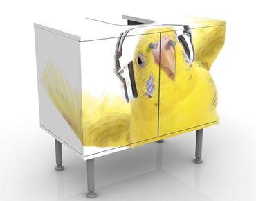 Waschbeckenunterschrank - Skatesittich - Badschrank Weiß
