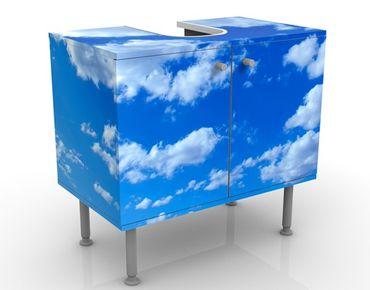 Waschbeckenunterschrank - Wolkenhimmel - Badschrank Blau