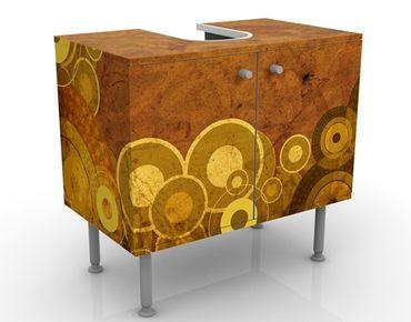 Waschbeckenunterschrank - Goldene Kreise - Badschrank