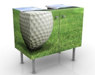 Waschbeckenunterschrank - Golfball - Badschrank Grün